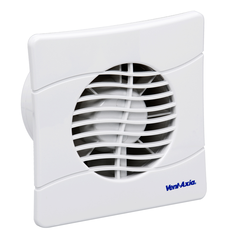 Vent-Axia BAS100SLT Extractor Fan With Backdraught Shutters And Timer 436532