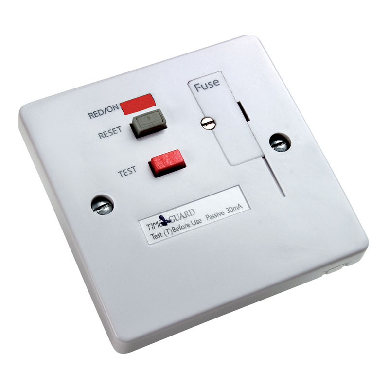 Rcd Socket Wiring Diagram : Timeguard tfp wl tripfast rcd white fused connection unit