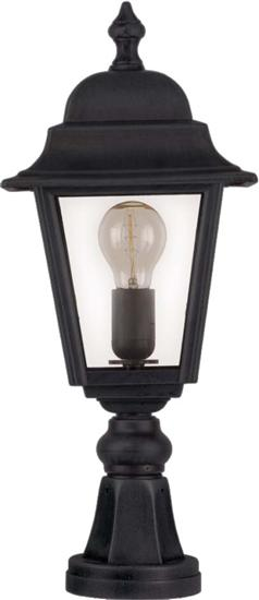 Ansell ANE27/PIL Nizza 100W Pillar Lantern E27 IP44 - Black or Black/Copper