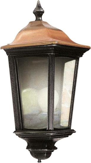 Ansell ARE27/HL Roma Half-lantern E27 IP44 -  Black or Black Silver W/ Copper Top