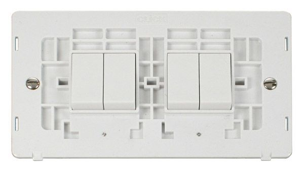 click definity sinpw-smart4 2g 2 x 2 apertures 4 x 10ax 2 way retractive switches