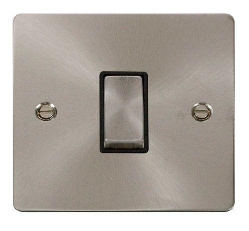 Click FPBSBK-SMART1 1G Plate 1 Aperture  1 x 10AX 2 Way Ingot Retractive Switch Module - Black