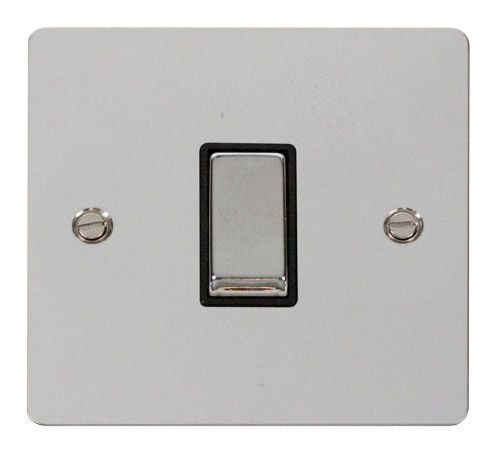 Click FPCHBK-SMART1 1G Plate 1 Aperture  1 x 10AX 2 Way Ingot Retractive Switch Module - Black
