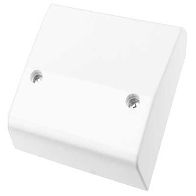 Deta S1217 Slimline Double Pole Cooker Cable Outlet 45A White Moulded