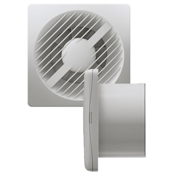 "Greenwood AXS100SVIHT 4"" Low Voltage Extractor Fan with Humidistat/Timer and Pull Cord 12V"