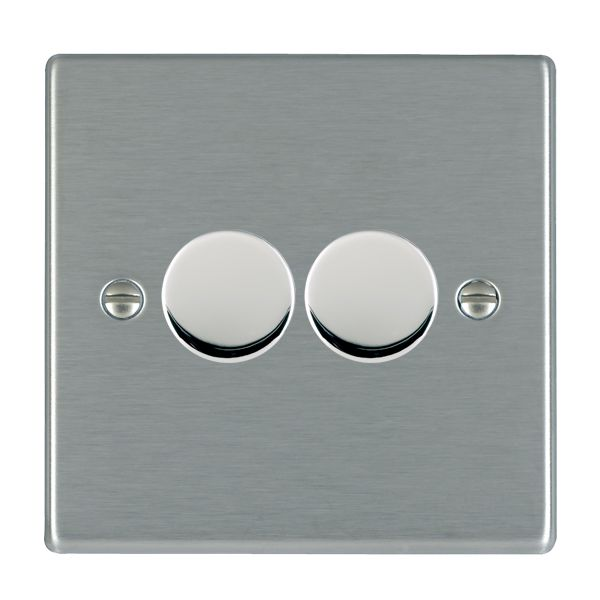 Hartland 742X40 Stainless Steel Dimmer 2G 2W 400w