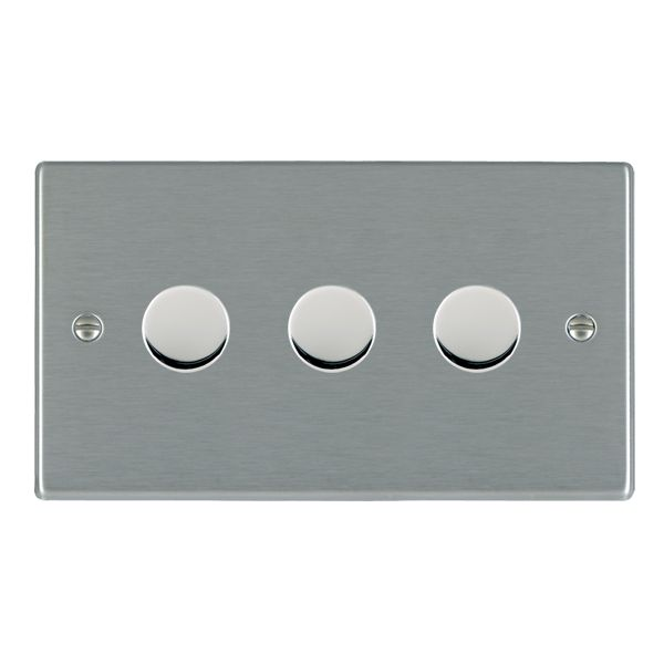 Hartland 743X40 Stainless Steel Dimmer 3G 2W 400w