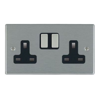 Hartland 74SS2SS-B and 74SS2SS-W Stainless Steel Double Socket