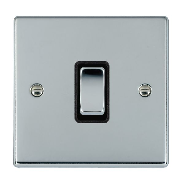 Hartland 77R21BC-B and 77R21BC-W Bright Chrome Light Switch 1G 2W