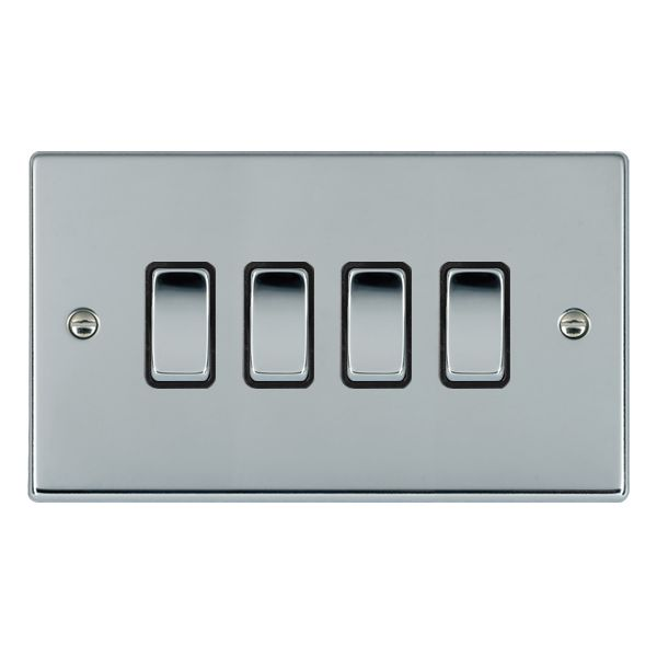 Hartland 77R24BC-B and 77R24BC-W Bright Chrome Light Switch 4G 2W