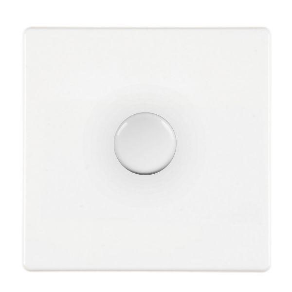 Hartland CFX 7WC1X40WH White Push Dimmer 1 Gang 2 Way 400W