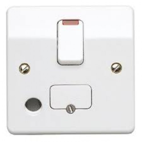 MK Electric K1070WHI Logic Plus Double Pole Switched Connection Unit W/ Neon & Front Flex Outlet 13A