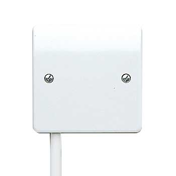MK Electric K1090WHI Logic Plus White Moulded 1 Gang Flex Outlet Frontplate 20A