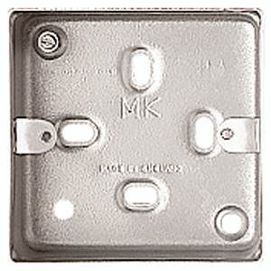 MK Electric K2213ALM 1 Gang Surface Mounting Box with knockouts 41mm