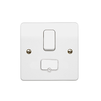 MK Electric K330WHI Logic Plus Fused Switched Connection Unit W/ Flex Outlet at Base DP 13A
