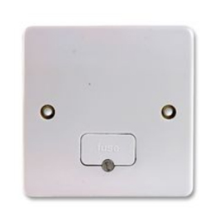 MK Electric K337WHI Logic Plus Moulded White Plastic DP Unswitched Connection Unit W/ Flex Outlet