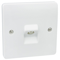 MK Electric K3520WHI Logic Plus Moulded Plastic TV - FM Co-Axial Socket Single Non isolated Socket.