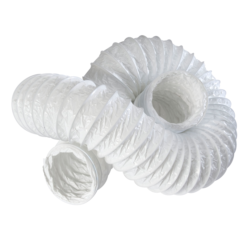"Primero FDT100 4"" White Flexible PVC Ducting - 3 Metres"