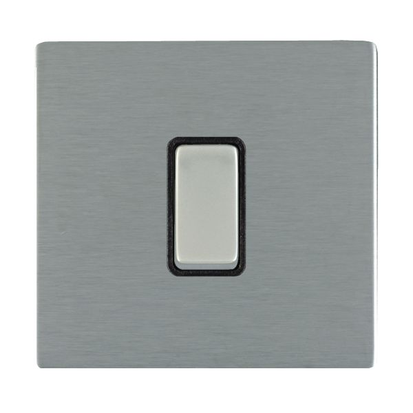 Sheer CFX 84CR21SS-B and 84CR21SS-W Satin Steel 10a Light Switch 1G 2W