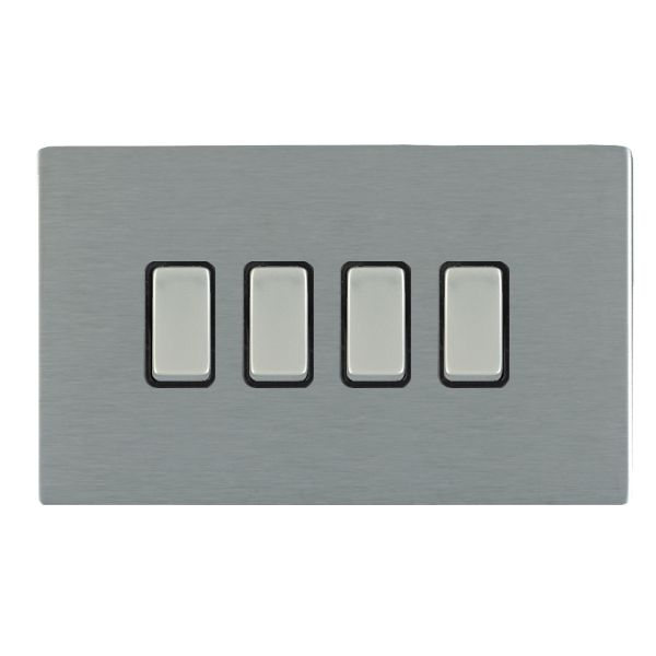 Sheer CFX 84CR24SS-B and 84CR24SS-W Satin Steel 10a Light Switch 4G 2W