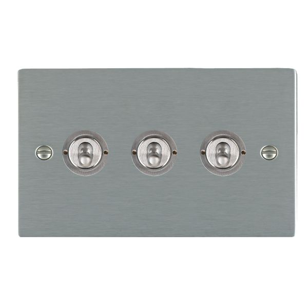 Sheer CFX 84CT23 Satin Steel 10a Dolly Switch 3G 2W