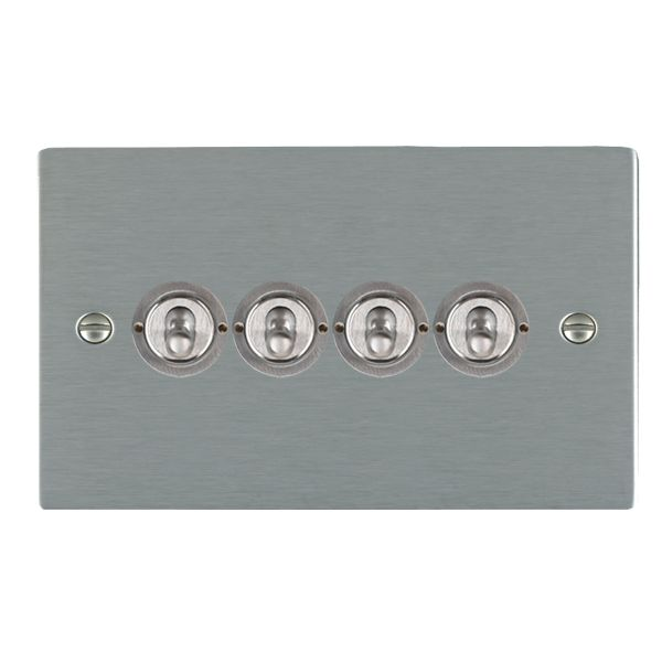 Sheer CFX 84CT24 Satin Steel 10a Dolly Switch 4G 2W