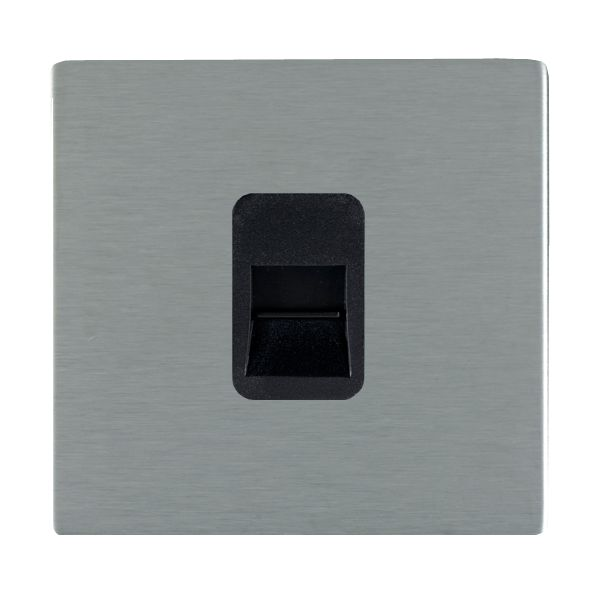 Sheer CFX 84CTCMB and 84CTCMW Satin Steel Telephone Master Socket