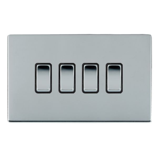 Sheer CFX  87CR24BC-B and 87CR24BC-W Bright Chrome 10a Light Switch 4G 2W
