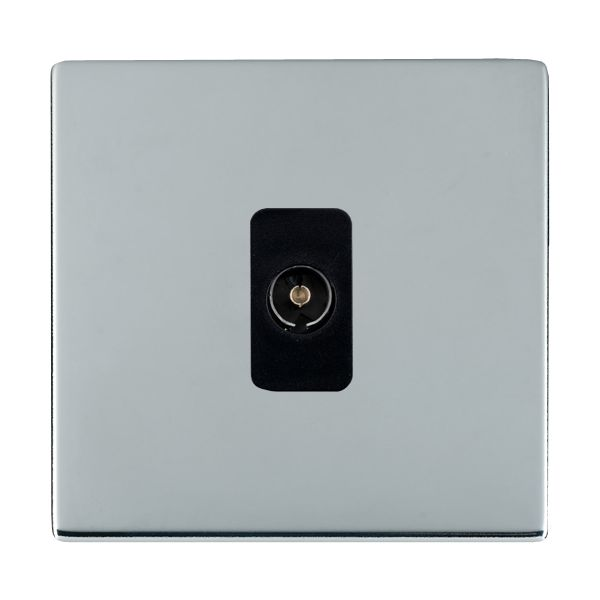 Sheer CFX 87CTVB and 87CTVW Bright Chrome TV Socket
