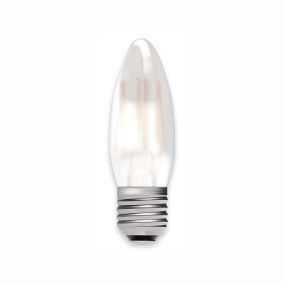 Bell Lighting 05129 4W LED Filament Satin Candle - ES, 2700K