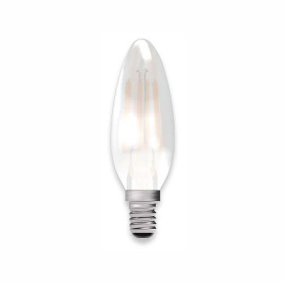 Bell Lighting 05315 4W LED Filament Satin Candle Dimmable - SES, 2700K