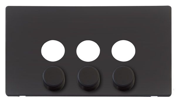 Click Definity Scp243bk 3 Gang Dimmer Switch Cover Plate