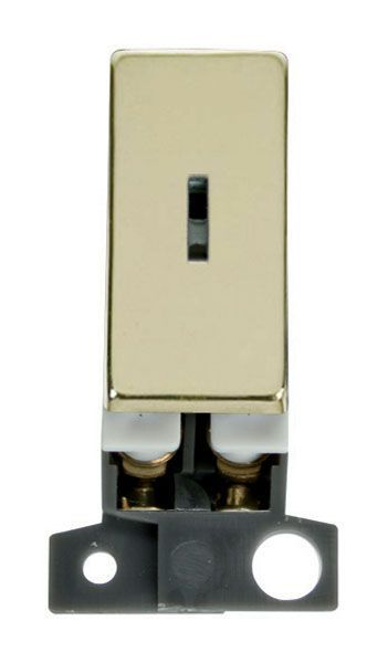Click Mini Grid MD003BR 2 Way Ingot 10AX Keyswitch - Brass