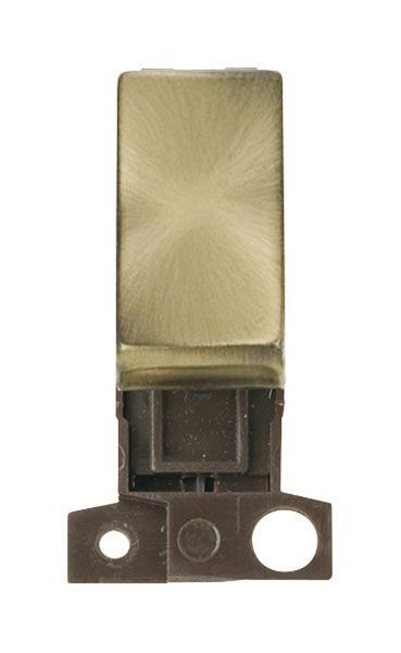 Click Mini Grid MD004AB 2 Way Retractive Ingot 10A Switch - Antique Brass
