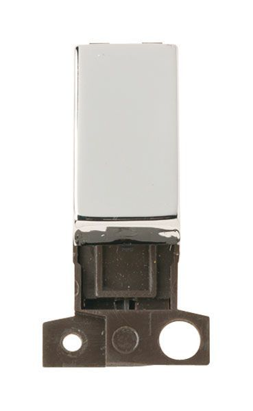 Click Mini Grid MD004CH 2 Way Retractive Ingot 10A Switch - Chrome