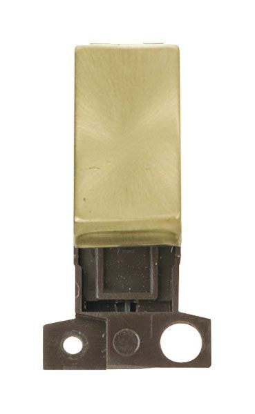 Click Mini Grid MD004SB 2 Way Retractive Ingot 10A Switch - Satin Brass