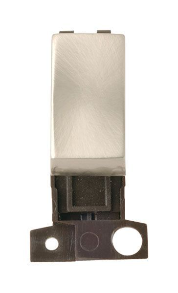 Click Mini Grid MD004SC 2 Way Retractive Ingot 10A Switch - Satin Chrome