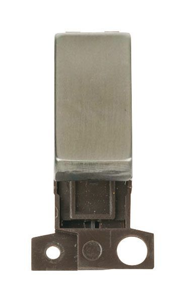 Click Mini Grid MD004SS 2 Way Retractive Ingot 10A Switch - Stainless Steel