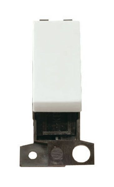 Click Mini Grid MD004WH 2 Way 10A Retractive Switch - Flow White