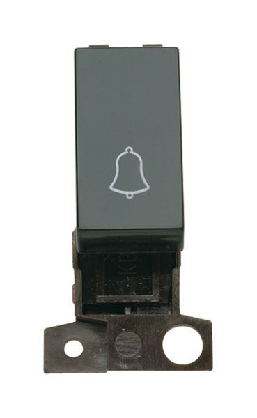 Click Mini Grid MD005BK 1 Way 10A Retractive Switch Module Bell - Black