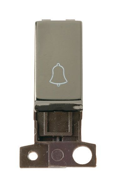 Click Mini Grid MD005BN 1 Way Retractive Ingot 10A Switch Bell - Black Nickel