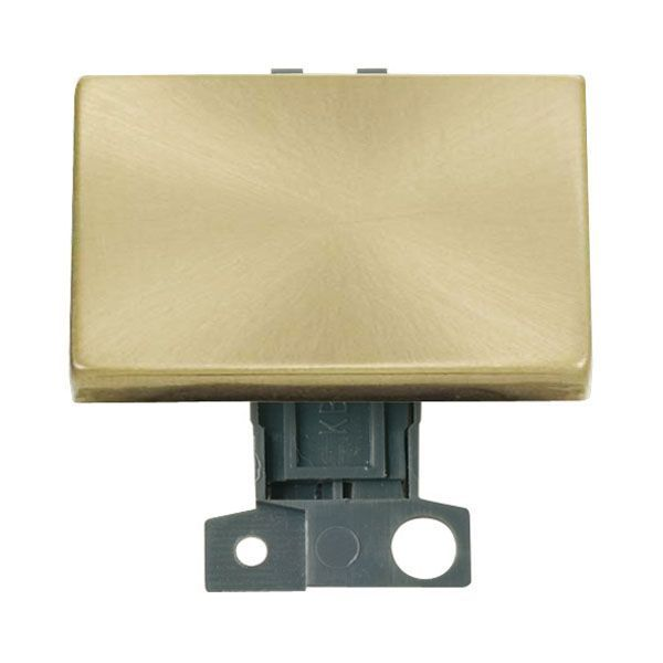 Click Mini Grid MD009SB 2 Way Ingot 10AX Paddle Switch - Satin Brass