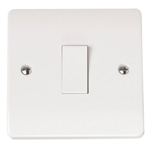 Click Scolmore CMA-SMART1 1G Plate 1 Aperture Supplied With 1 x 10AX 2 Way Retractive Switch Module