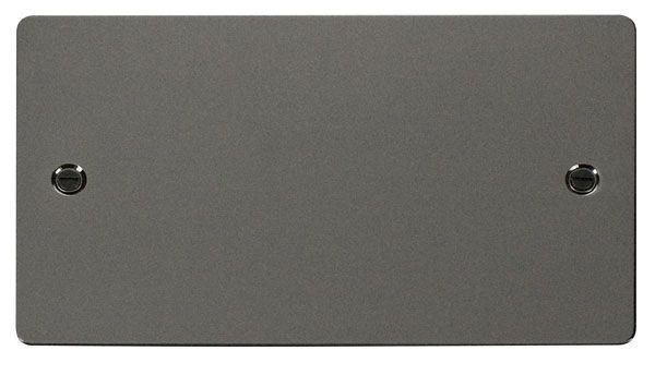 Click Scolmore FPBN061 2 Gang Blank Plate