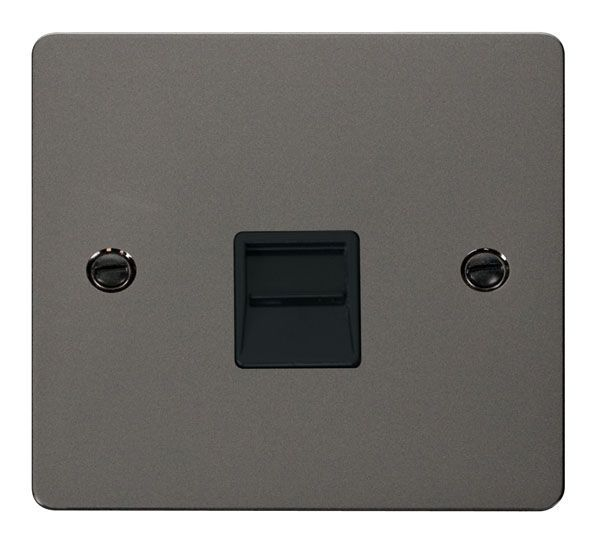 Click Scolmore FPBN125BK Single Telephone Socket Secondary  - Black