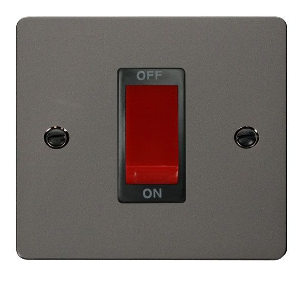 Click Scolmore FPBN200BK 1 Gang 45A DP Switch  - Black