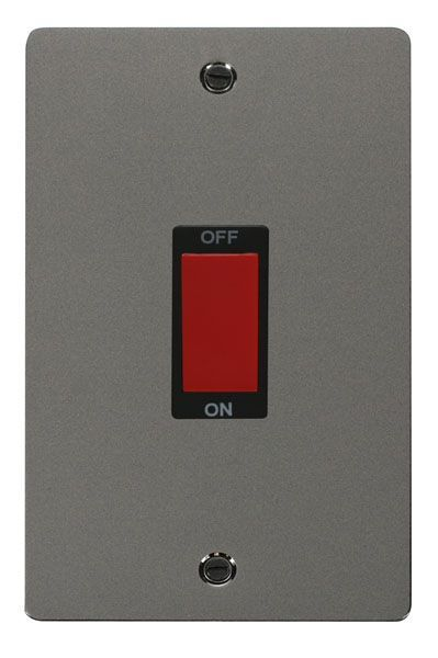Click Scolmore FPBN202BK 2 Gang 45A DP Switch  - Black