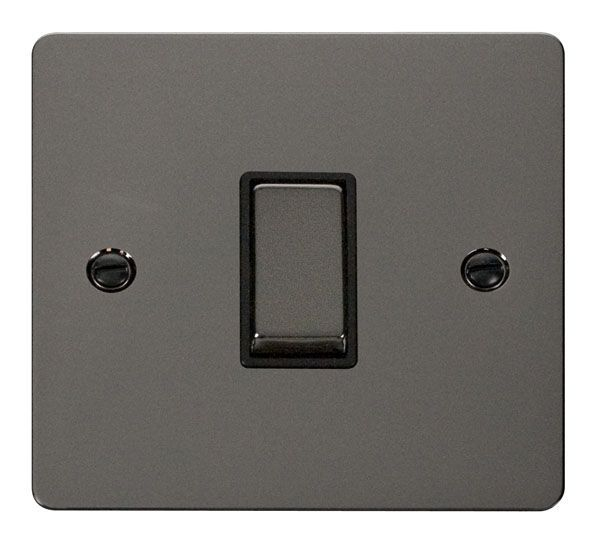 Click Scolmore FPBN411BK Ingot 10AX 1 Gang 2 Way Switch  - Black