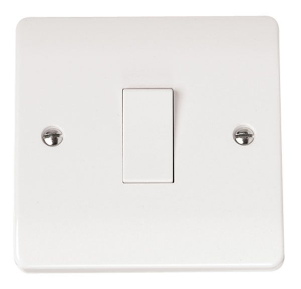 Click Scolmore MODE CMA011 10AX 1 Gang 2 Way Plate Switch