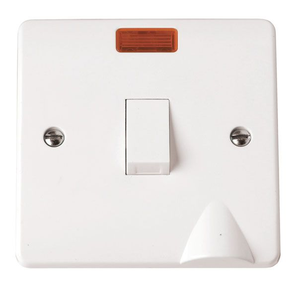 Click Scolmore MODE CMA023 20A DP Switch With Flex Outlet & Neon